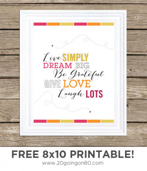 Free Word Art Quote Printable's For Your Picture Frames..