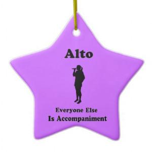 Alto Star Funny Choir Ornament Gift For Singer