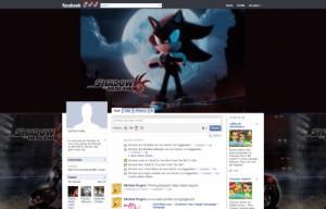 Shadow The Hedgehog Facebook Skins