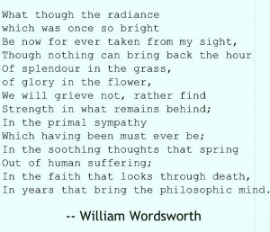 Splendor in the Grass by William Wordsworth. One of my VERY favorite ...