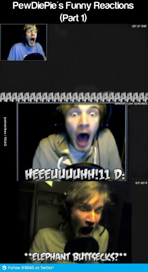 Funny Pewdiepie Moments c:
