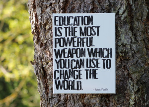 Most Powerful Teaching Quotes ~ Popular items for nelson mandela on ...