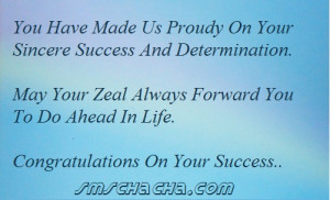 Congratulations Your Success Quotes Pic #13