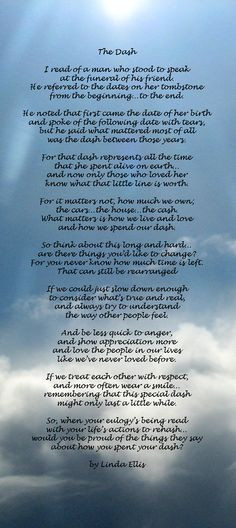 ... amazing poem for anyone that has suffered the loss of a loved one More