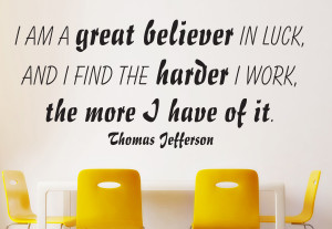 am - Thomas Jefferson... Wall Decal Quotes