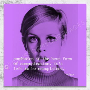 twiggy quote square wall art