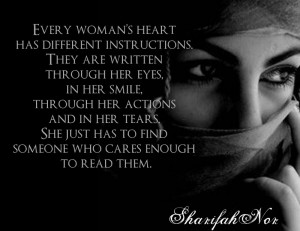 every woman s heart has different instructions they are written ...