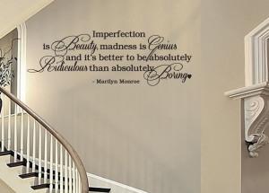 ... IS BEAUTY... Marilyn Monroe Vinyl Wall Decal Sticker Art Quote