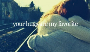 boy and girl, couple, friends, hugs, love, pretty, quote, sweet, texte