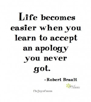 Learn to accept what you did not get
