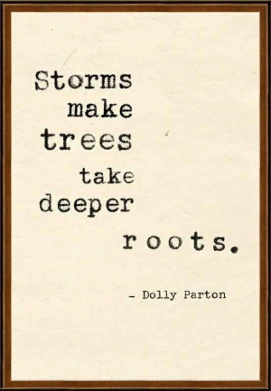 Dolly quote about storms
