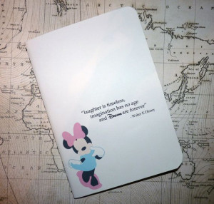 Walt Disney Notebook - Quote - Minnie Mouse