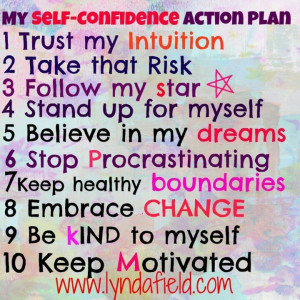 Self confidence action plan