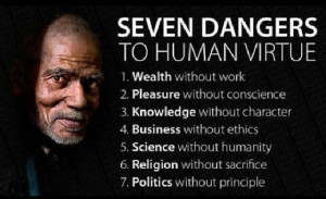 Dangers to Human Virtue #quote