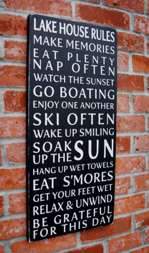 Xmas gift for mom and Harvey next year?? Lake House Rules Typography ...