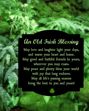 Irish Quotes About Love 8x10 old irish blessing - free