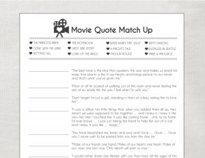 game famous movie love quotes freebie movie love quotes printable