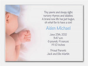New Baby Boy Birth Announcement and Baby Shower Invitations