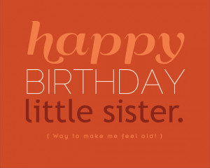Little Sister Funny Birthday Cards