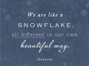 It just seems fitting with all of the snow coming to Chicago!