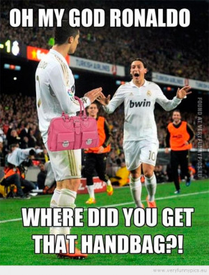 Funny Picture - Oh my god ronaldo where did you get that handbag