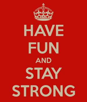 ... stay strong weekend is coming soon baby makes funny face and a