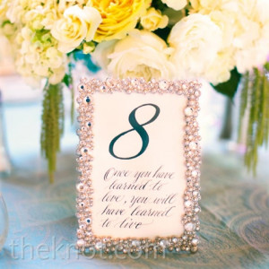 romantic love quotes on table number cards for wedding reception i