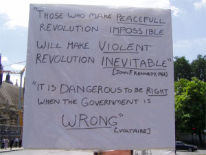 Another of Steve's Parliament Sq. Placards (photo by rikki)
