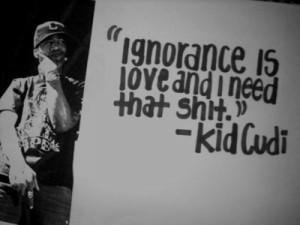 kid cudi, love, shit, text, true