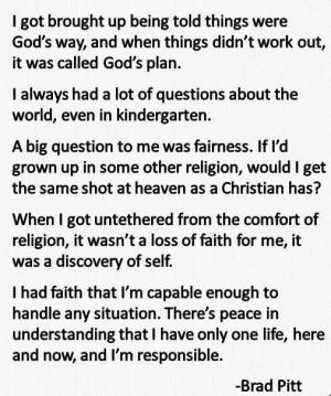 ... pitt http dailyatheistquote com atheist quotes 2013 10 07 brad pitt