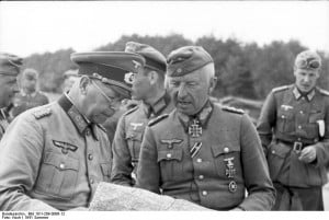 Field Marshal von Manstein, right, in the summer of 1941, possibly on ...