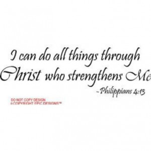 ... me Philippians 4:13 religious wall quotes arts sayings vinyl decals