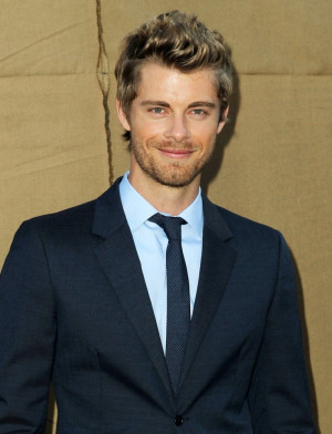 Luke Mitchell Actor Arrives...