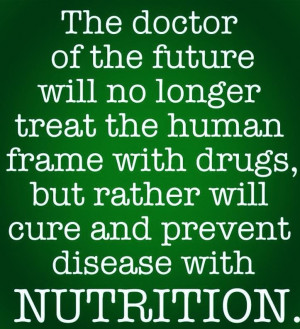 ... nutrition and diet will improve your overall health more than you