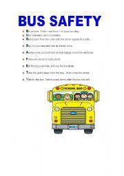English worksheet: BUS SAFETY