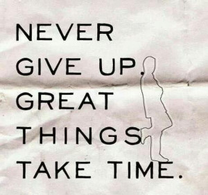 Quote Never Give Up Great Things Take Time