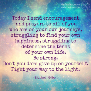 Keep your light and sparkle going. I'm rooting for you ♥