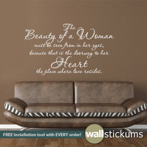Natural Beauty Women Quotes Wall decal quote : the beauty