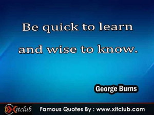 Most Famous #quotes By George Burns #sayings #quotations