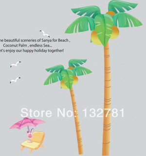 71×71 Wall Stickers Coconut
