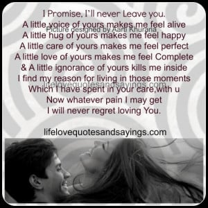 Will Never Regret Loving You..