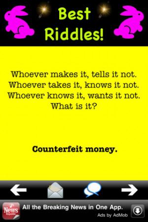 funny facebook riddles