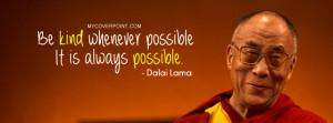 Dalai Lama Quote Facebook Cover