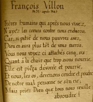 François Villon : Ballade des pendus