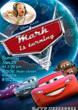 Disney Cars Invitations Sayings