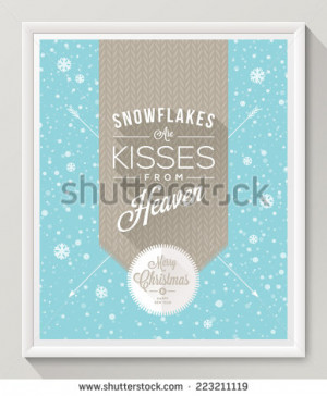 with type design against a snowfall background - Christmas quote ...