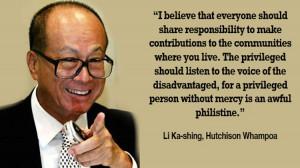 famous li ka shing quotes