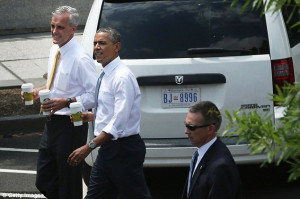 Getting cabin fever Mr President? Obama leaves White House for a ...
