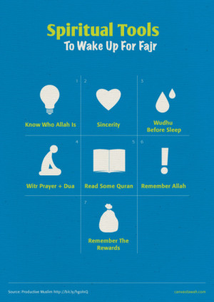 islamic-quotes:Spiritual Tools To Wake Up For Fajr.