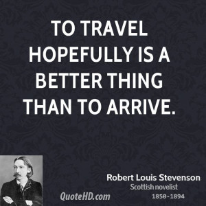 Robert Louis Stevenson Travel Quotes